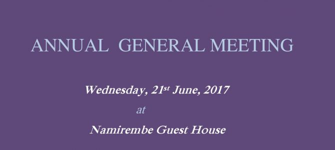 Notice of NAWOU Annual General Meeting 2017