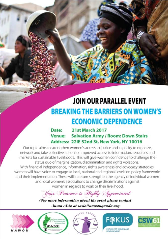 Join Our Side Event at the 61st Commission on the Status of Women (CSW) Meeting