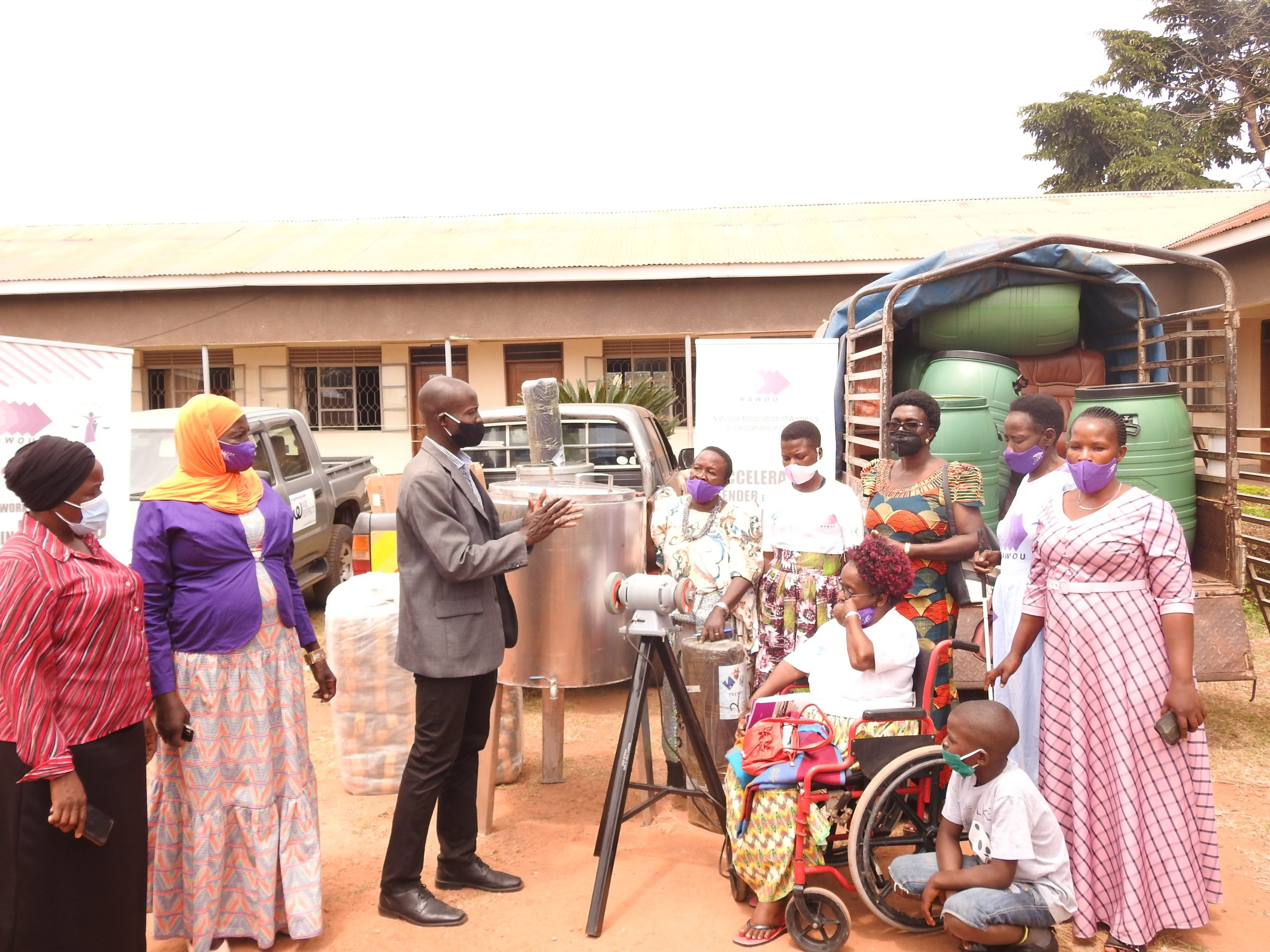 NINE WOMEN GROUPS IN LUWERO SUPPORTED WITH INCOME KITS.