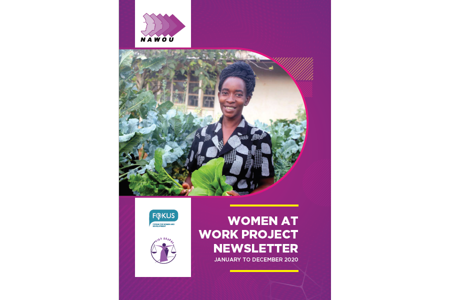 WOMEN AT WORK PROJECT NEWSLETTER 2020