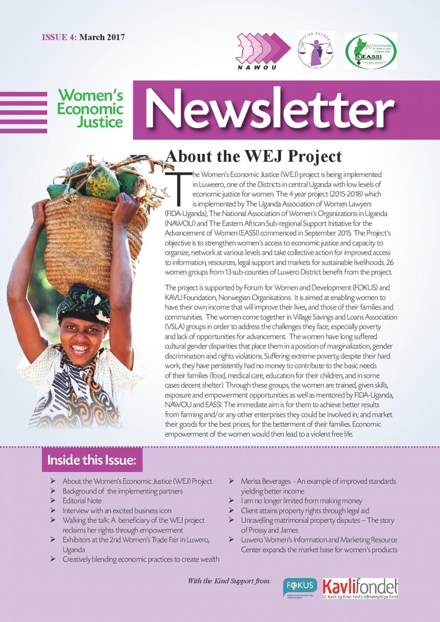 NAWOU Newsletter on Women's Economic Justice